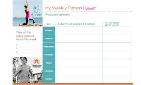Free Weekly Fitness Planner Territory Health Fund