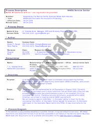 Process Manual Template Process Manual Template Resume Template Sample 1