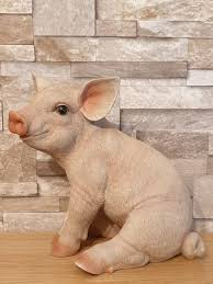 pig resin animal ornament by arts