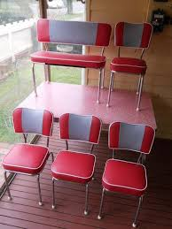 red retro chairs. Popular Red Retro Kitchen Table Restored 50u0027s Laminex Formica Chairs Dressers Furniture In S