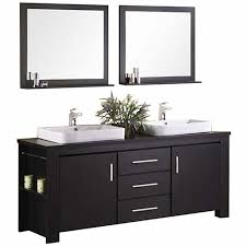 Wood Vanity Bathroom Design Element Washington 72 In W X 22 In D Vanity In Espresso