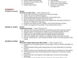 Busser Resume Example Colbroco Unique Busser Resume