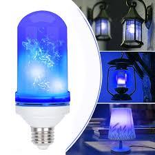 Blue Led Light Fixture Ac85 265v 4 Modes E27 Blue Led Flicker Flame Light Bulb Simulated Burning Fire Effect Festival Lamp