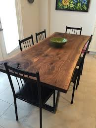 live edge dining table black walnut walnut table by planktotable
