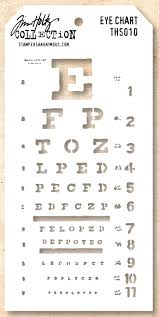 Stampers Anonymous Tim Holtz Layering Stencil Eye Chart