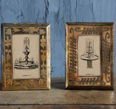 mercury glass picture frame vintage picture frames