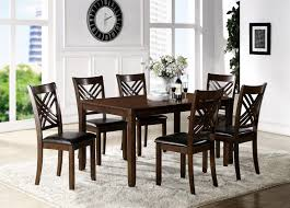 crown mark eloise dining room table with six side chairs item number 2430set