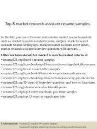 Top8marketresearchassistantresumesamples 150512234959 Lva1 App6891 Thumbnail 4 Jpg Cb 1431474667