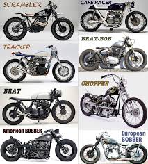 the difference cafe racer bobber brat scrambler tracker