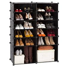 12 cube diy shoe rack modular organizer plastic cabinet by langria 6 tier shelving bookcase