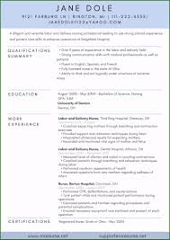 Magnificent Labor And Delivery Nurse Resume Sample In 2019