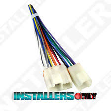 240sx wiring harness aftermarket car stereo radio wiring harness 1763 wire adapter plug for nissan