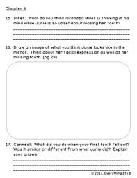 junie b first grader toothless wonder level m prehension questions book quiz