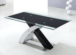 black and glass dining table hot furniture for home interior decoration with various glass dining table