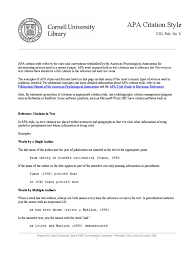 Apa Citation Style Citation Apa Style