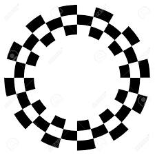 Checkered Design Checkerboard Frame Spiral Design Border Pattern Copy Space