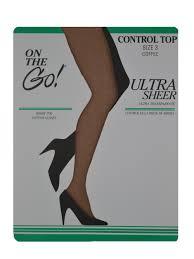 Calvin Klein Hosiery Color Chart On The Go On The Go Womens Hosiery Control Top Pantyhose
