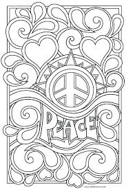 Small Picture Hippie Coloring Pages Free Printable Adult Art Van vonsurroquen