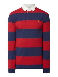 polo ralph lauren rugby shirt mit blockstreifen rot 1