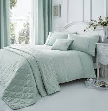 ebony jacquard duck egg duvet cover set super kingsize