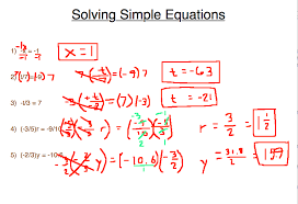 word problems involving one step equations on solving simple equations