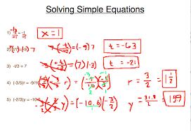 simple algebraic equations