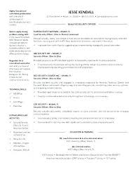 Security Resume Objective Law Enforcement Resume Security Resume ...