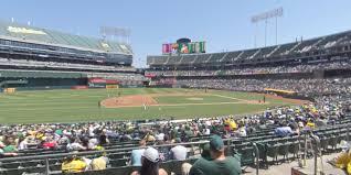 Ringcentral Coliseum Section 123 Oakland Athletics