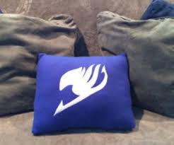 pillow with tail. fairy tail logo pillow with
