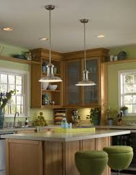 Wondrous Kitchen Island Two Modern Ideas Including Contemporary Pendant  Lights For Picture Inspiration Interior Lighting With Green Round Stools  Also ...