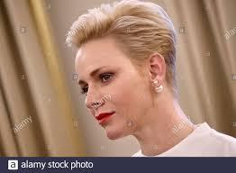 La Principessa Charlene di Monaco partecipa a un evento di dono per i  residenti di Monaco presso la sede della Croce Rossa di Monaco, in vista  della Giornata Nazionale di Monaco 17