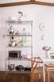 Wire kitchen rack Stainless Steel 12 Smart Ways To Use Wire Shelves In Your Kitchen Better Homes And Gardens 12 Smart Ways To Use Wire Shelves In Your Kitchen Storage