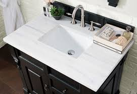 james martin single 36 inch arctic fall solid surface countertop rectangular sink 3cm thick