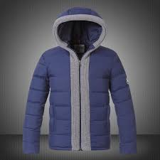 2014 Moncler CANUT Design Mens Down Jacket Blue Outlet Original On Sale