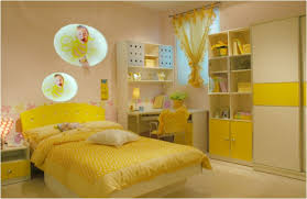 Small Yellow Bedroom With Desk And Closet