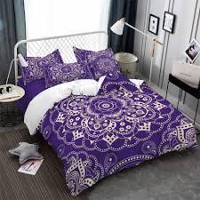 boho bedding set queen size bohemian duvet cover set 3pcs navy home textiles us au ru size with pillow case m1045 just bohemian style
