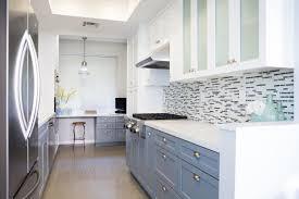 mid century modern kitchen design gray paint cabinetry wooden