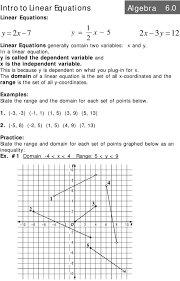 the domain of a linear equation is the set of all x coordinates and the