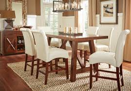 counter height gl top dining room