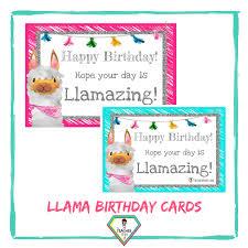 Teachers Birthday Card Teacher Resource Llama Birthday Card The Teacher Hero