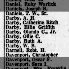 Darbys listed as voters - Newspapers.com