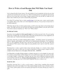 How To Write A Resume For A Job Example Examples Want To Make My