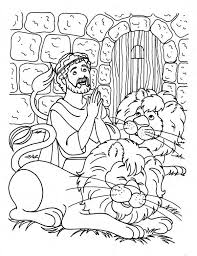 Small Picture and the lions den coloring page