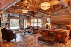 rustic master bedroom with stone fireplace amp amp high ceiling in bathroomwinsome rustic master bedroom designs industrial decor
