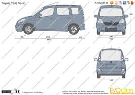 The-Blueprints.com - Vector Drawing - Toyota Yaris Verso