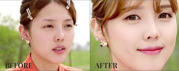 blush before and after. ponymakeup_liptint_blush_beforeafter blush before and after f