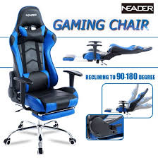 office reclining chair. High Back Computer Racing Gaming Chair, Ergonomic Executive Home Office Reclining Chair With Footrest,