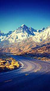Sierra-Nevada-HDR-Mountains-Road-iPhone ...