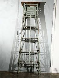 Wooden Ladder Display Stand Vintage Painted Ladder as a Display Stand For Sale at 100stdibs 87