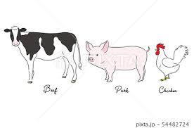 牛 イラスト 手書き かわいいの写真素材 Pixta
